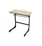 Psací stůl, Školní lavice, výškově stavitelná, šedá LAVICE, KTERÁ ROSTE S DĚTMI - C305