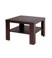 Konferenčný stolík ALOIS, štvorcový, sklo a police - K114