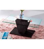 Konferenční stolek designový, MDF lesk a sklo - K93 NOVINKA