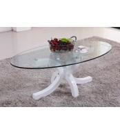 Konferenčný stolík dizajnový, MDF lesk a sklo - K94 NOVINKA