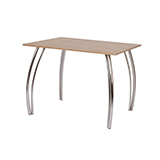Jedálenský stôl DAKO II 80x100, nohy chróm - S146