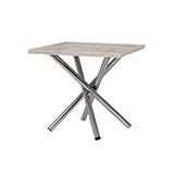 Jedálenský stôl POLO 80x80, nohy chróm - S147