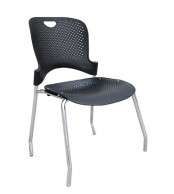 Stolička VLASTA, chróm - plast - Z600