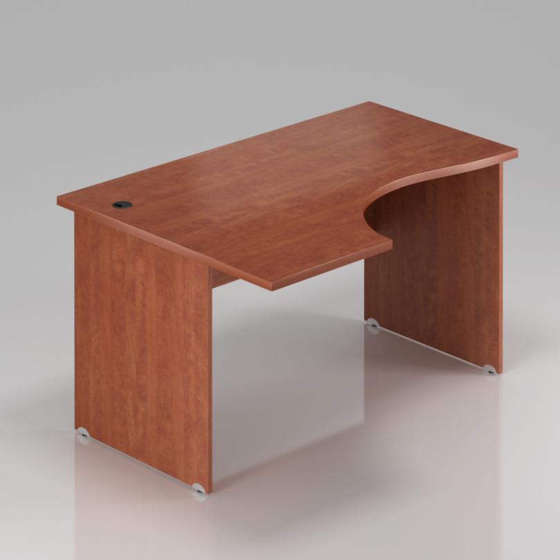 Kancelársky rohový stôl ľavý Komfort, drevená podnož, 160x70 / 100x76 cm - BKA21 03