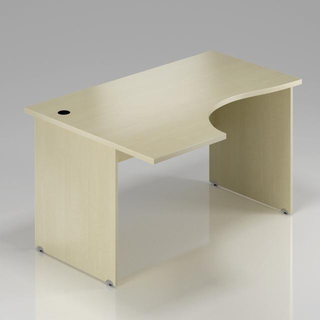 Kancelársky rohový stôl ľavý Komfort, drevená podnož, 160x70 / 100x76 cm - BKA21 12