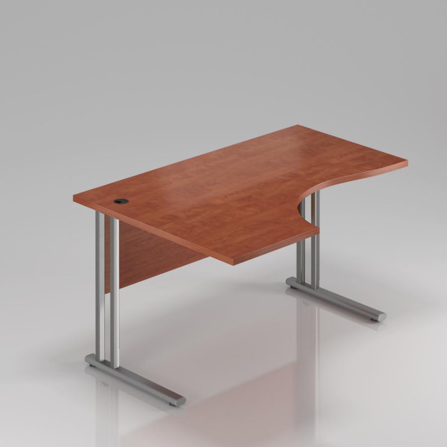 Kancelársky stôl rohový ľavý Komfort, kovová podnož, 160x70 / 100x76 cm - BPR21 03