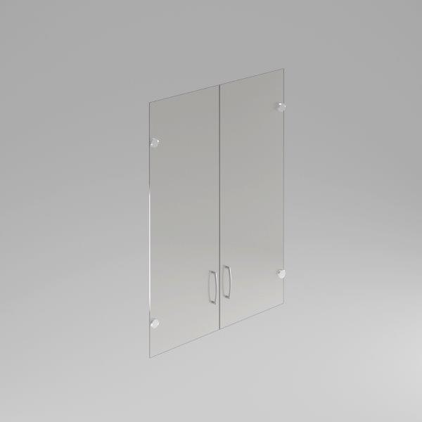 Sklenené dvere Komfort, hliníkový rám, 105,2x79 cm - FS 3-OH
