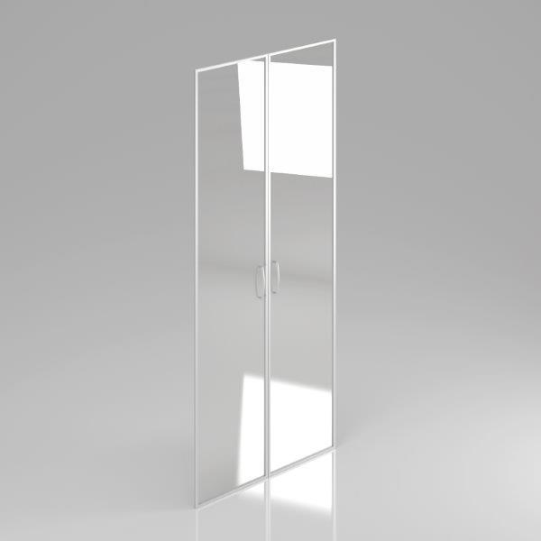 Sklenené dvere Komfort, hliníkový rám, 175,4x79cm - FS 5-OH AL