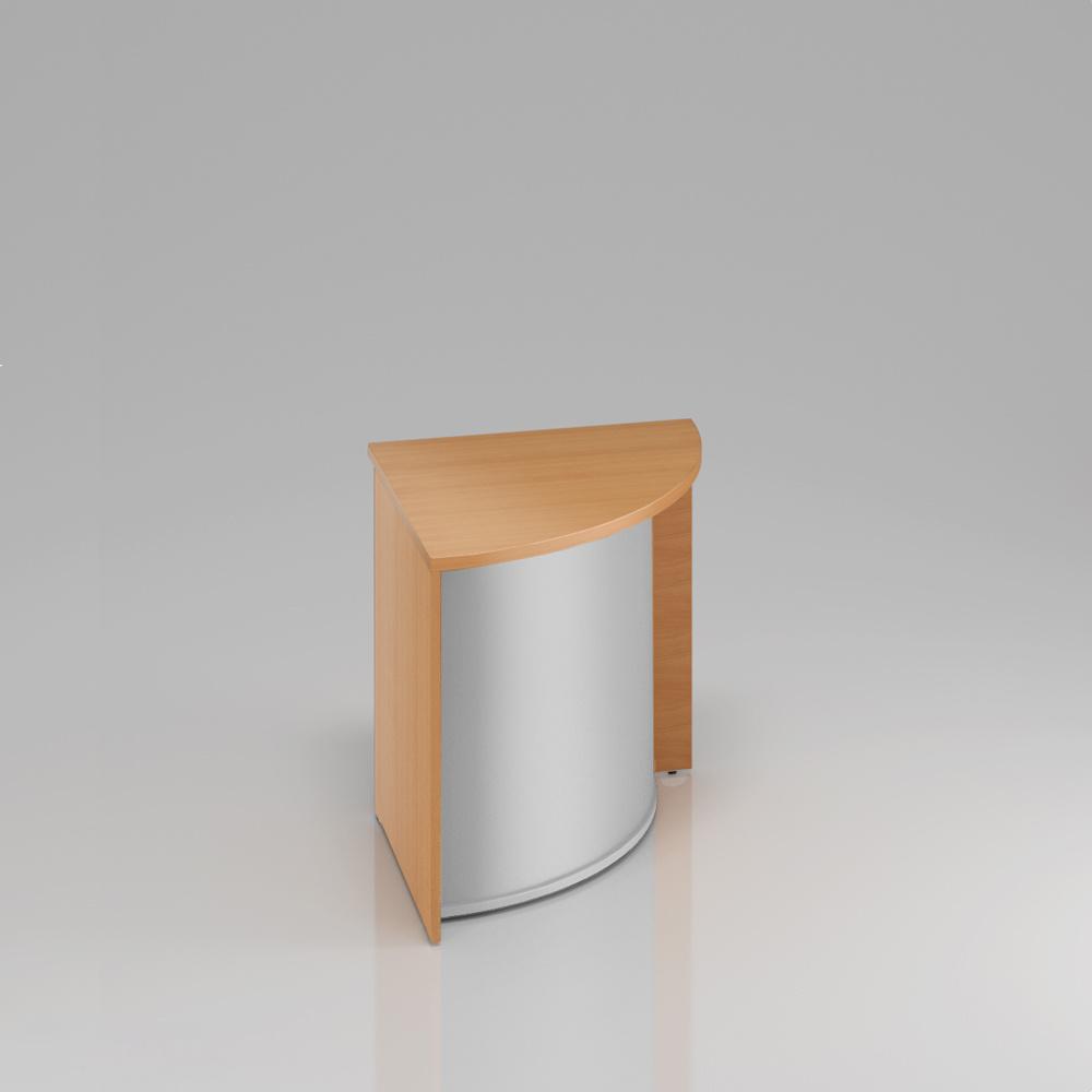 Recepčný rohový pult Komfort, 70x70x76 cm - LKA90 11