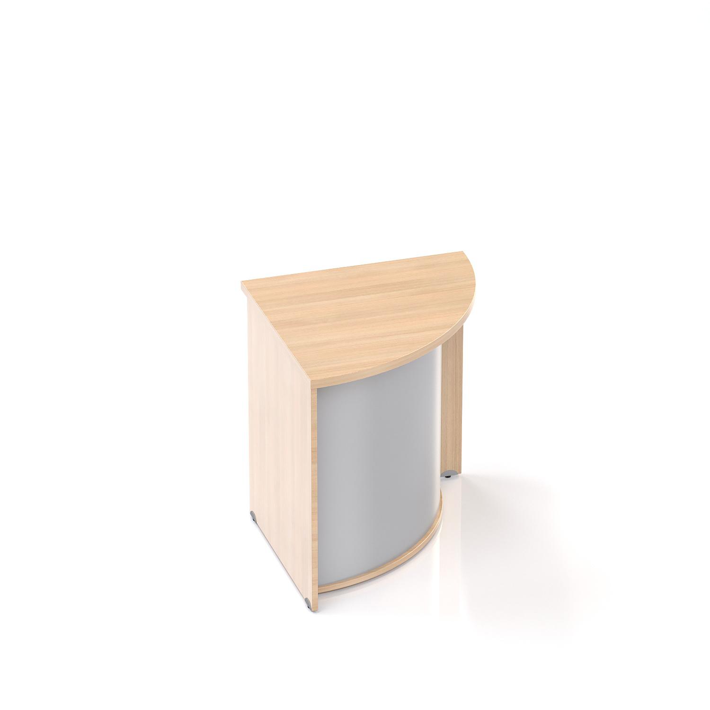 Recepčný rohový pult Komfort, 70x70x76 cm - LKA90 05