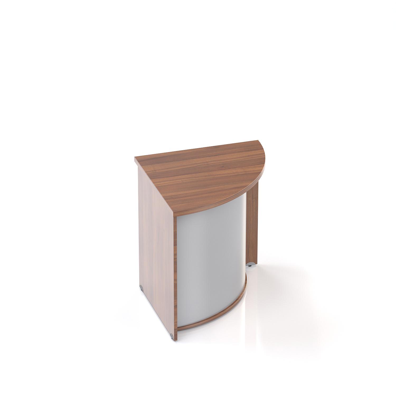 Recepčný rohový pult Komfort, 70x70x76 cm - LKA90 19