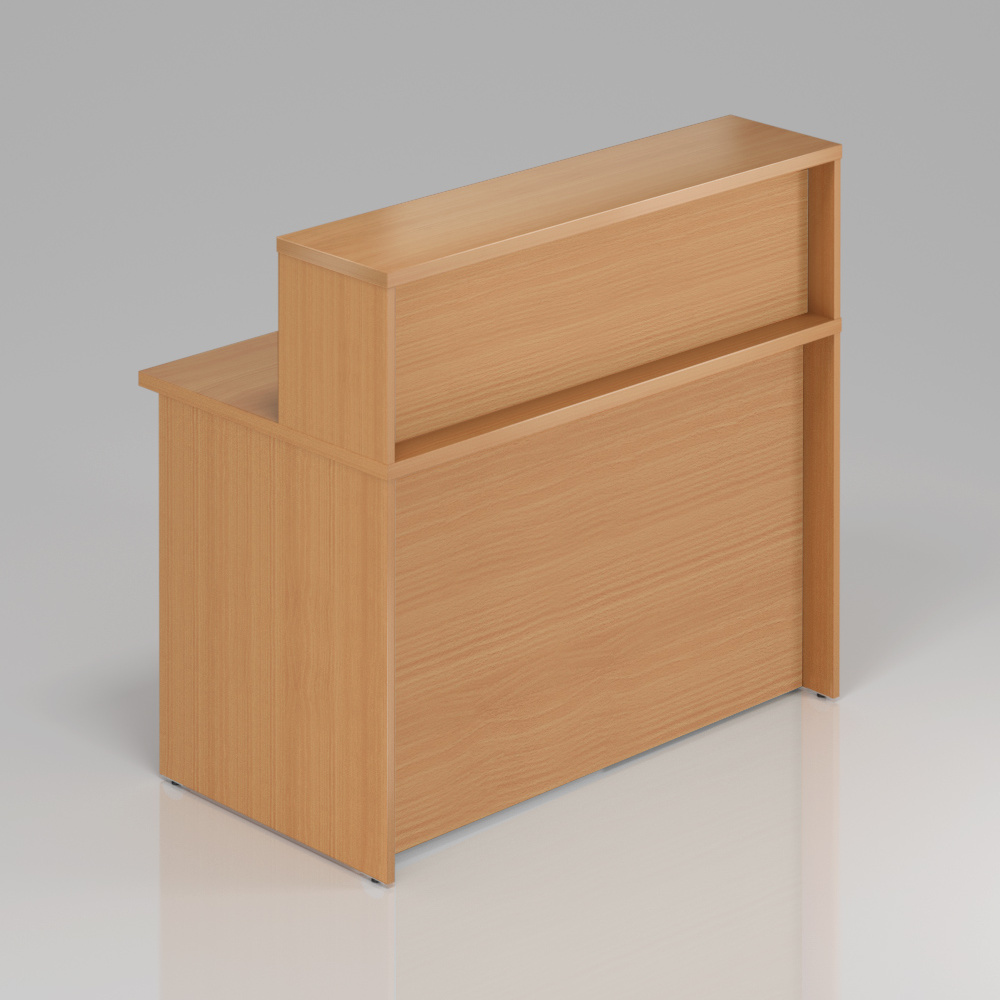 Recepčný pult s nadstavbou Komfort, 120x70x111 cm - NLKA12 11