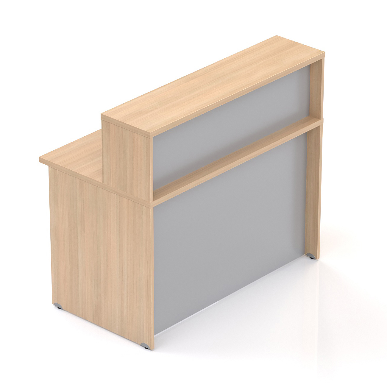Recepčný pult s nadstavbou Komfort, 136x70x111 cm - NLKA13 05