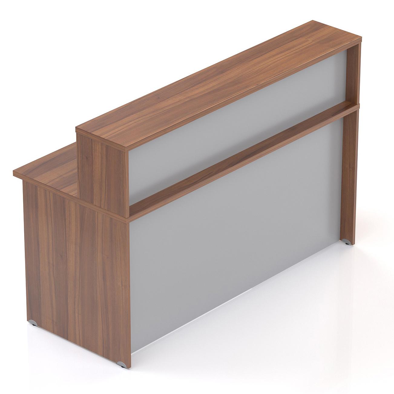 Recepčný pult s nadstavbou Komfort, 160x70x111 cm - NLKA16 19
