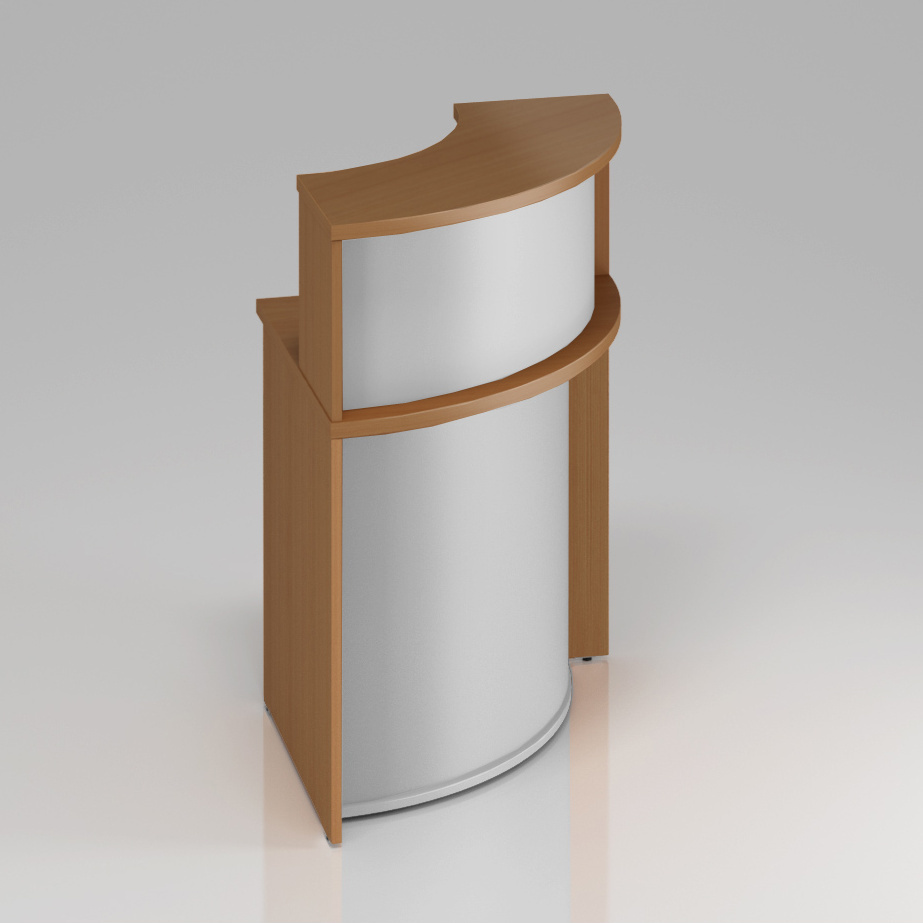 Recepčný rohový pult s nadstavbou Komfort, 70x70x111 cm - NLKA90 11