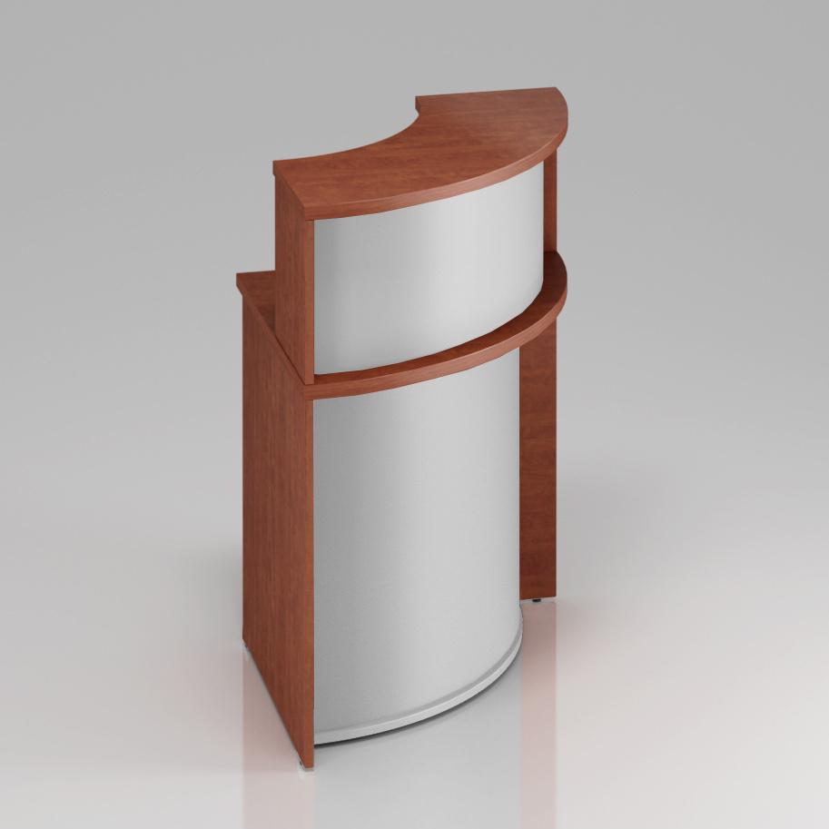 Recepčný rohový pult s nadstavbou Komfort, 70x70x111 cm - NLKA90 03