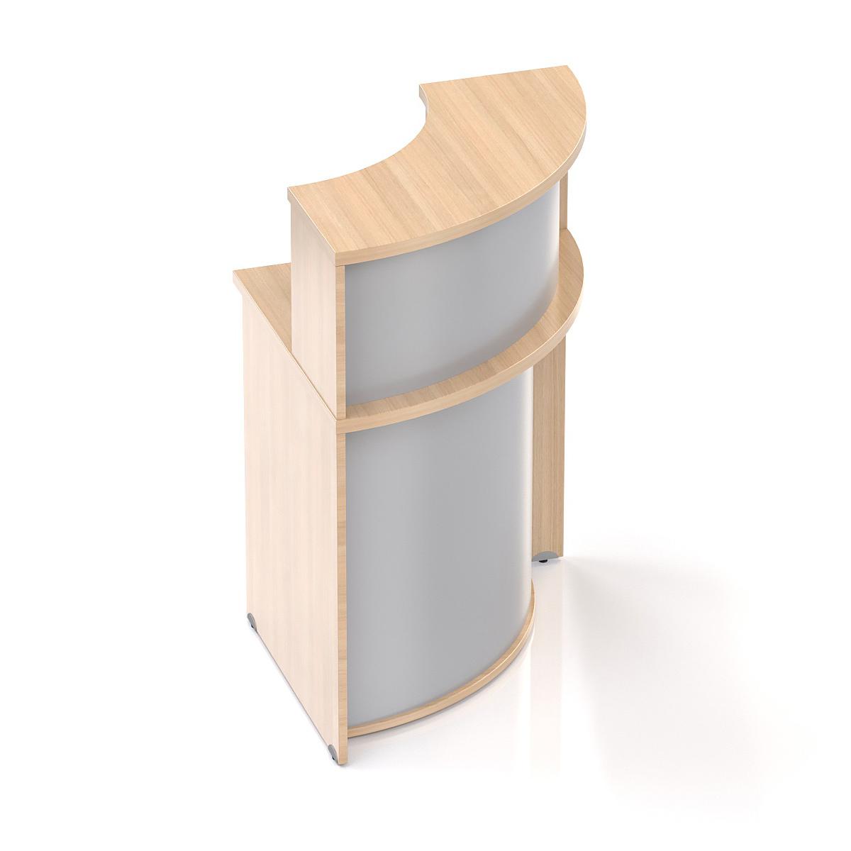 Recepčný rohový pult s nadstavbou Komfort, 70x70x111 cm - NLKA90 05