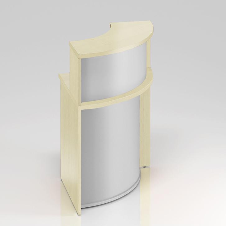 Recepčný rohový pult s nadstavbou Komfort, 70x70x111 cm - NLKA90 12