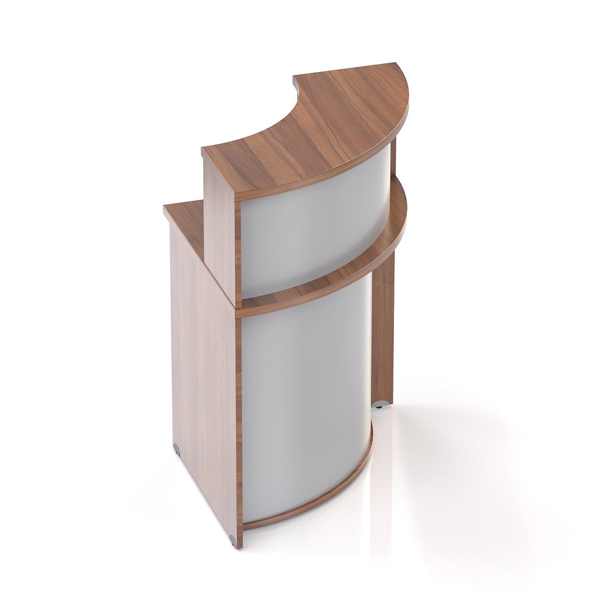 Recepčný rohový pult s nadstavbou Komfort, 70x70x111 cm - NLKA90 19