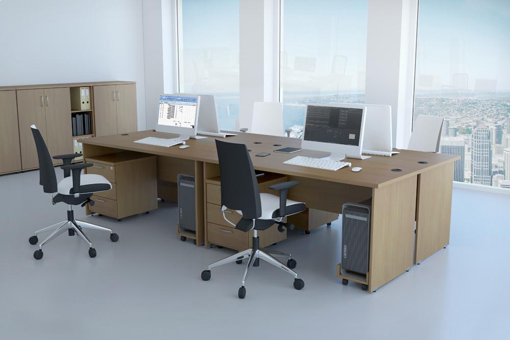 Zostava kancelárskeho nábytku Komfort 1 buk - R111001 11