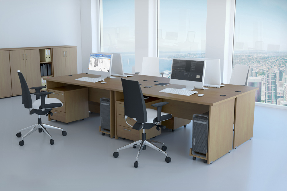 Zostava kancelárskeho nábytku Komfort 1 javor - R111001 12