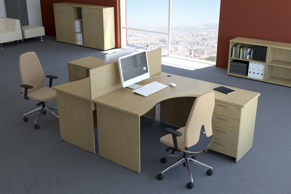 Zostava kancelárskeho nábytku Komfort 2 javor - R111002 12