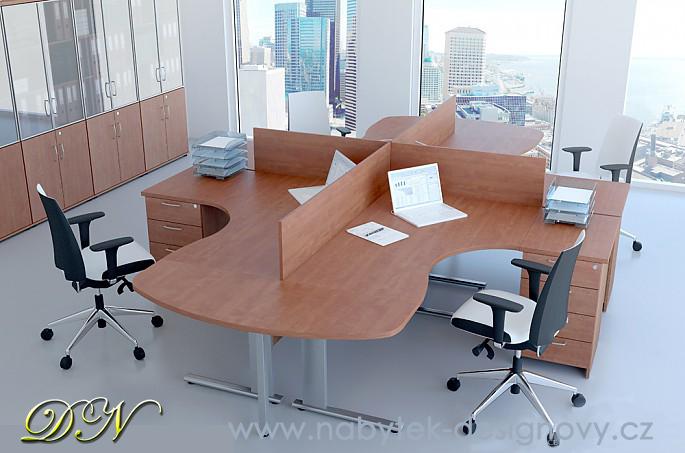Zostava kancelárskeho nábytku Komfort 3 javor - R111003 12