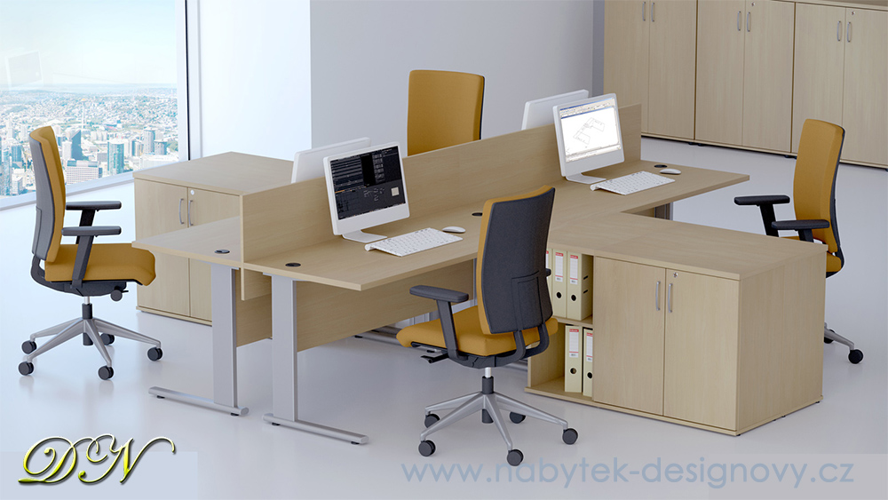 Zostava kancelárskeho nábytku Komfort 4 javor - R111004 12