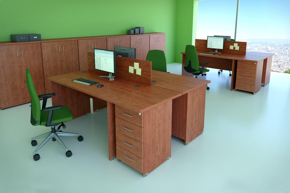 Zostava kancelárskeho nábytku Komfort 5 buk - R111005 11