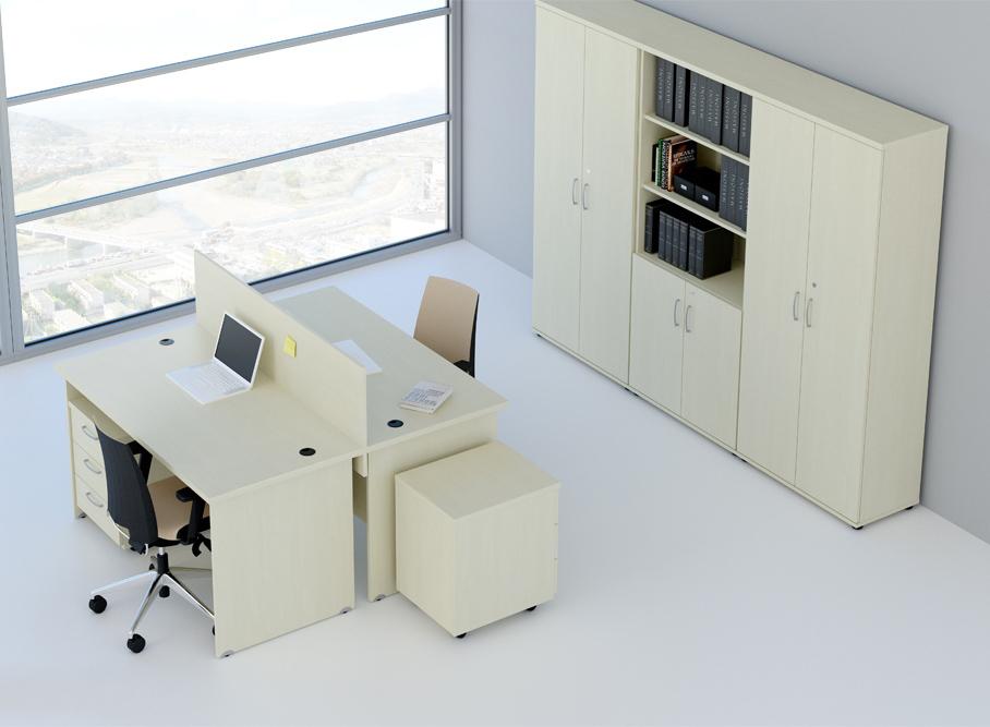 Zostava kancelárskeho nábytku Komfort 6 calvados - R111006 03