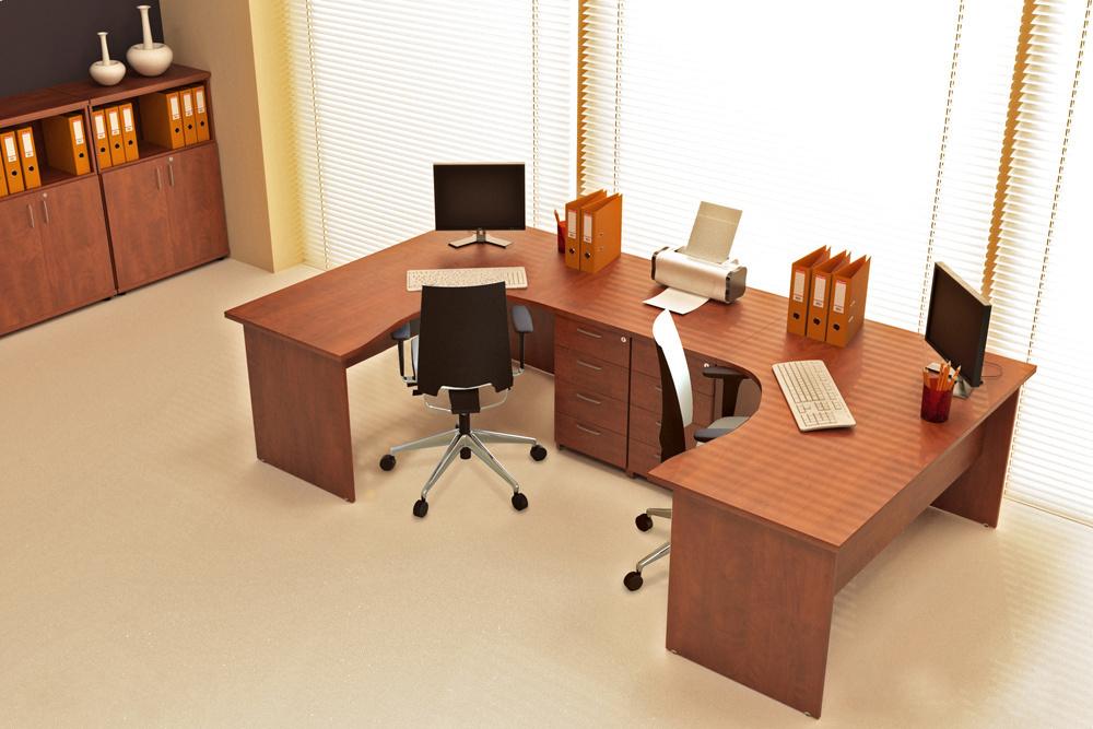 Zostava kancelárskeho nábytku Komfort 7 javor - R111007 12
