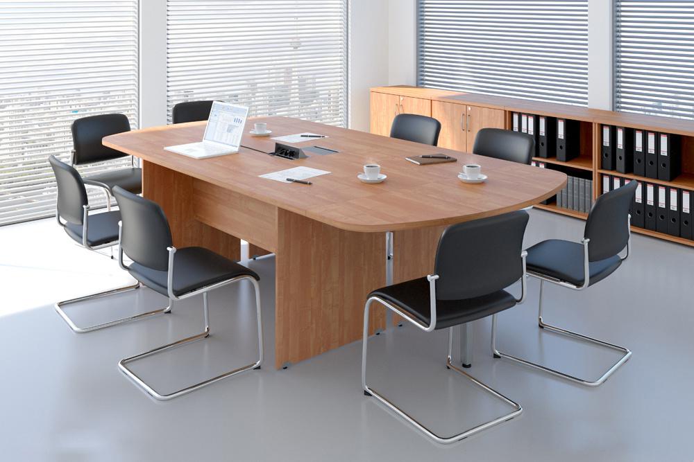 Zostava kancelárskeho nábytku Komfort 8 calvados - R111008 03