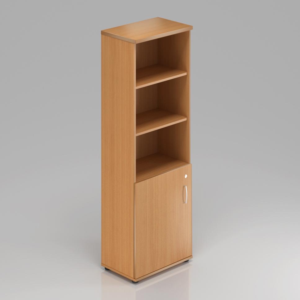 Kancelárska skriňa Komfort, 60x38,5x183,5 cm, dvere 2/5 - S562 11