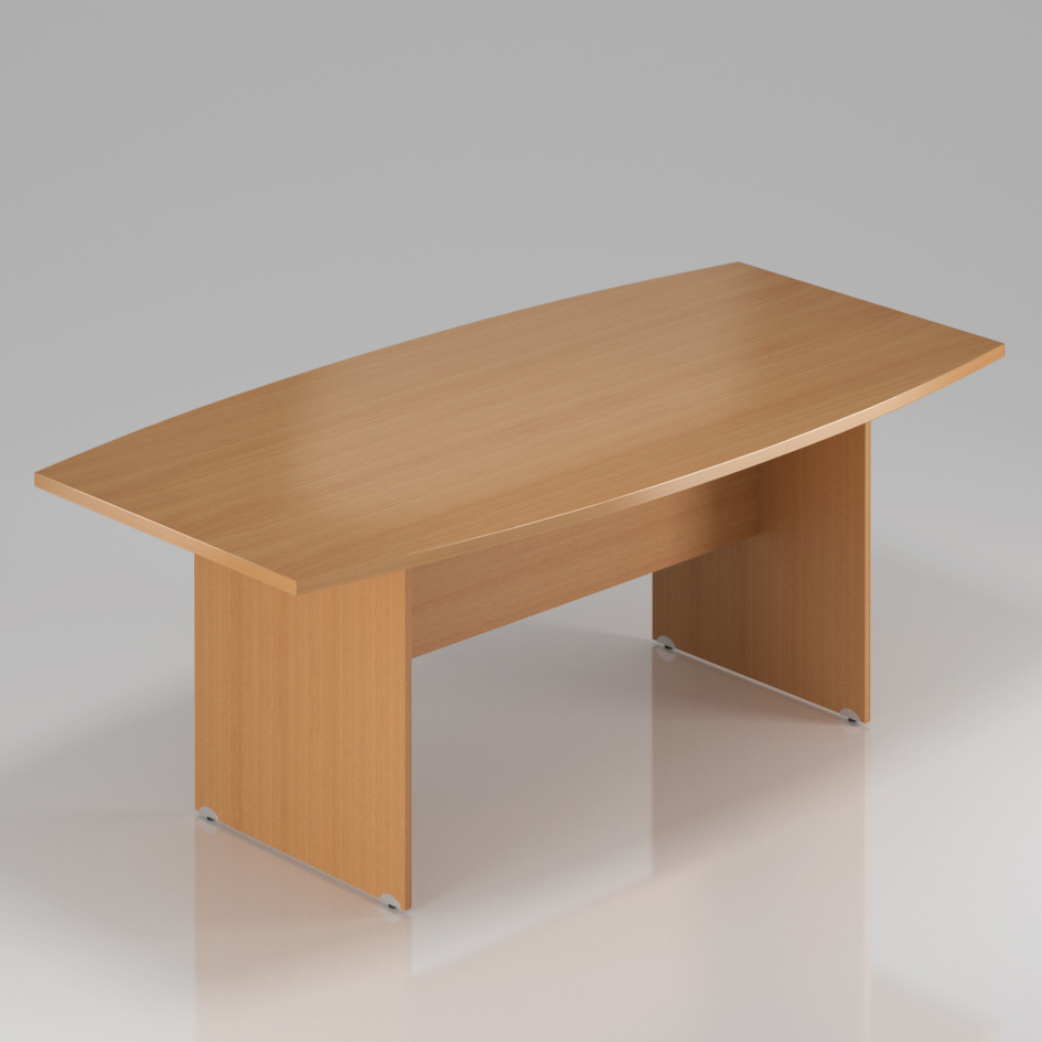 Konferenčný stôl Komfort, drevená podnož, 200x100x76 cm - SKA33 11