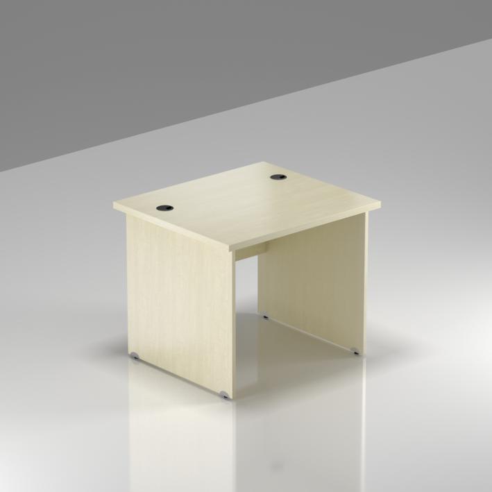 Kancelársky stôl Komfort, drevená podnož, 80x70x76 cm - BKA08 12