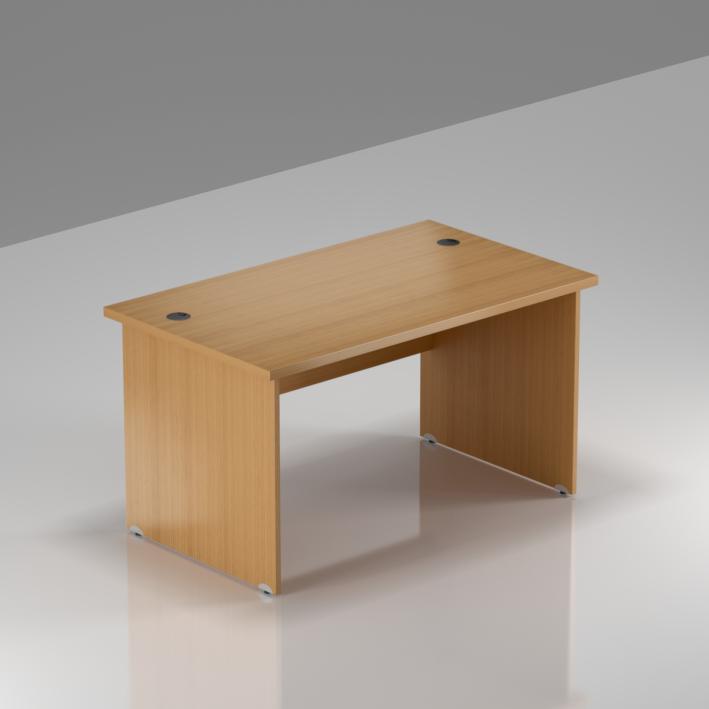 Kancelársky stôl Komfort, drevená podnož, 120x70x76 cm - BKA12 11