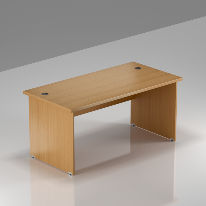 Kancelársky stôl Komfort, drevená podnož, 140x70x76cm - BKA14 11