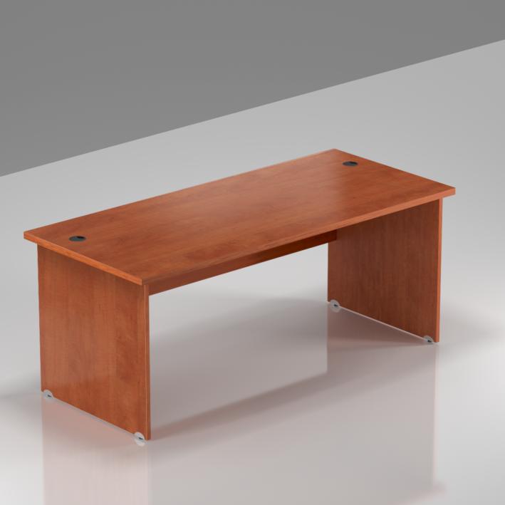 Kancelársky stôl Komfort, drevená podnož, 160x70x76 cm - BKA16 03