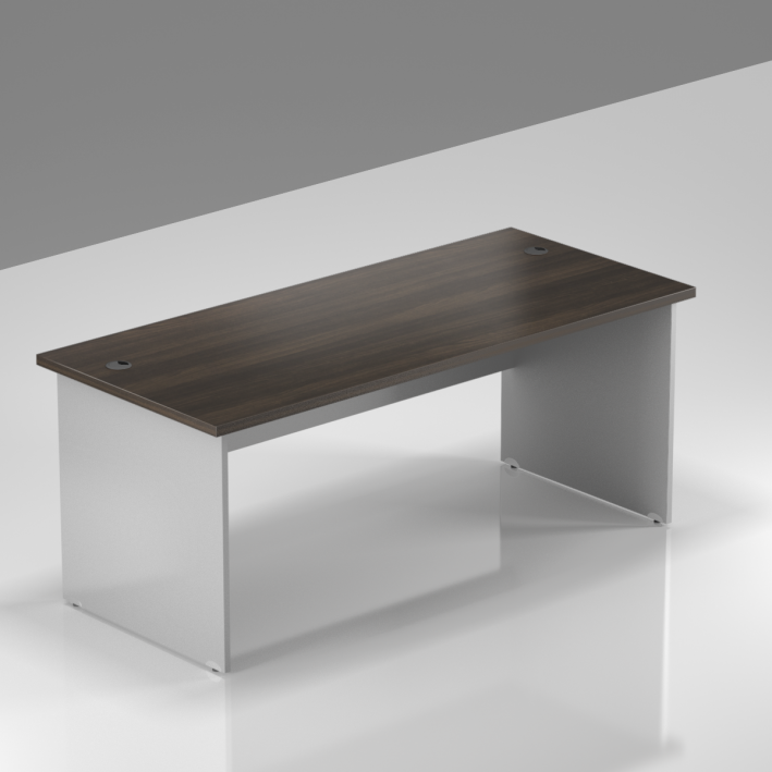 Kancelársky stôl Komfort, drevená podnož, 160x70x76 cm - BKA16 07