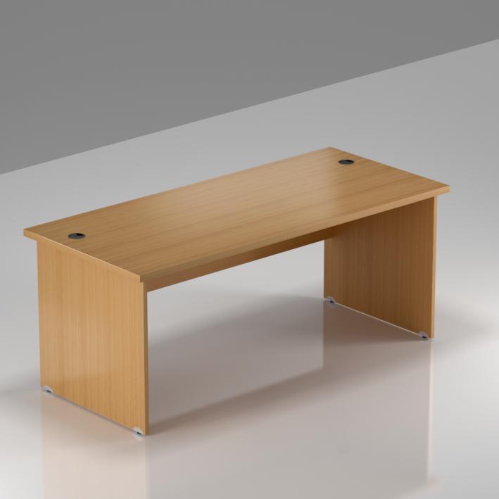 Kancelársky stôl Komfort, drevená podnož, 160x70x76 cm - BKA16 11