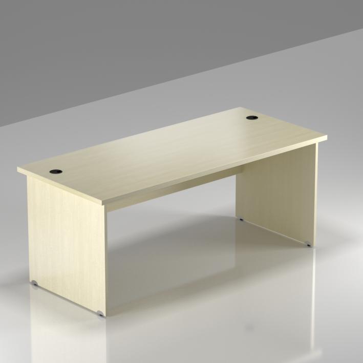 Kancelársky stôl Komfort, drevená podnož, 160x70x76 cm - BKA16 12