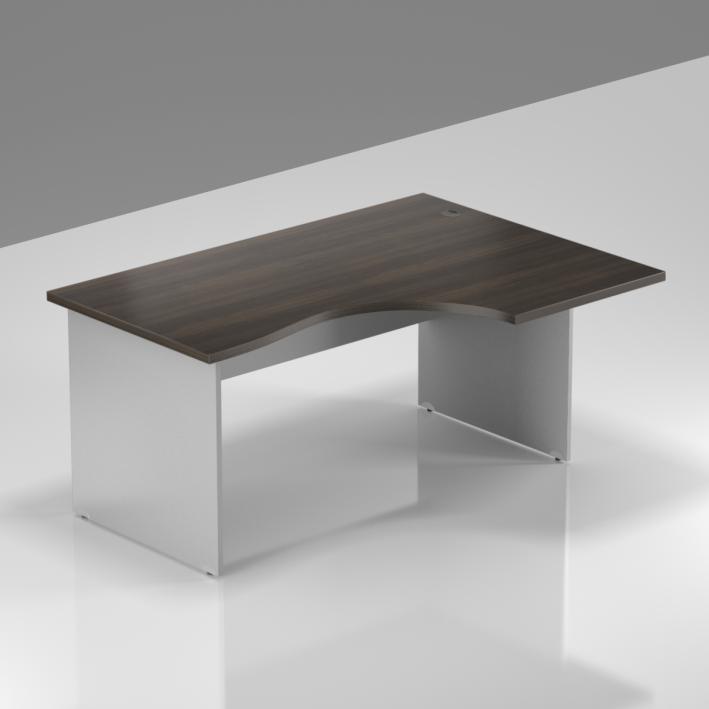 Kancelársky stôl rohový pravý Komfort, drevená podnož, 140x70 / 100x76 cm - BKA18 07