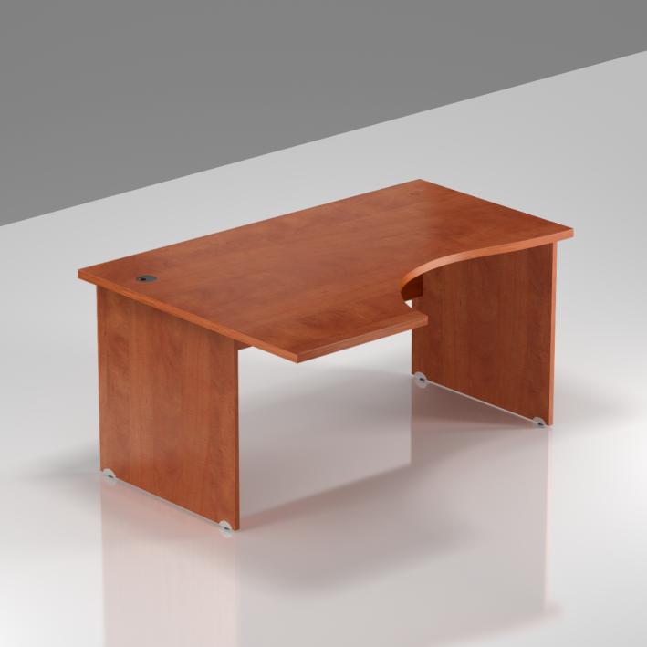 Kancelársky rohový stôl ľavý Komfort, drevená podnož, 140x70 / 100x76 cm - BKA19 03