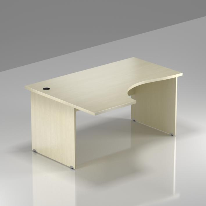 Kancelársky rohový stôl ľavý Komfort, drevená podnož, 140x70 / 100x76 cm - BKA19 12