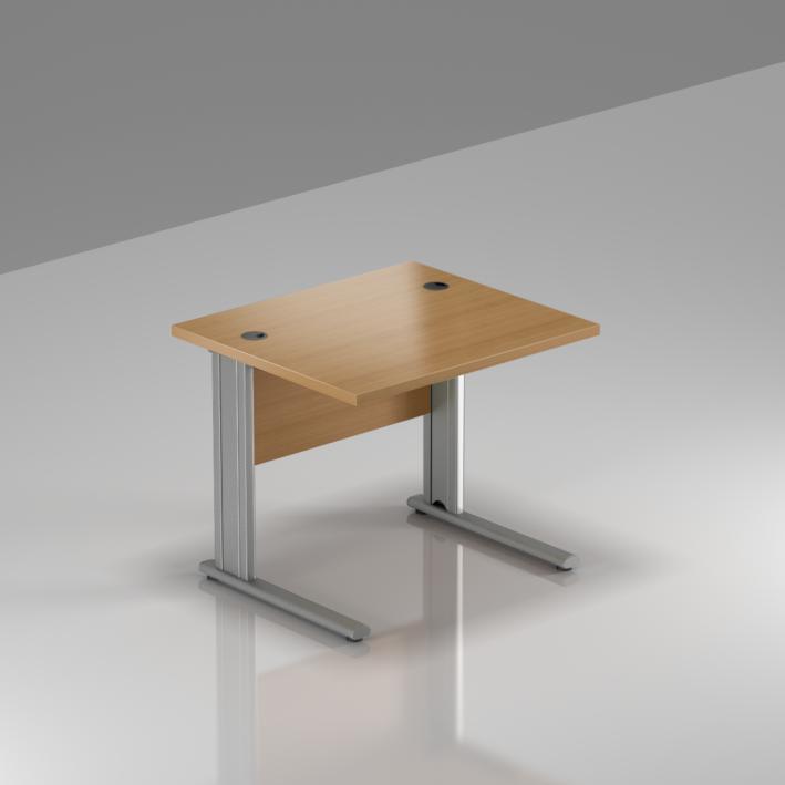 Kancelársky stôl Komfort, kovová podnož, 80x70x76cm - BPR08 11