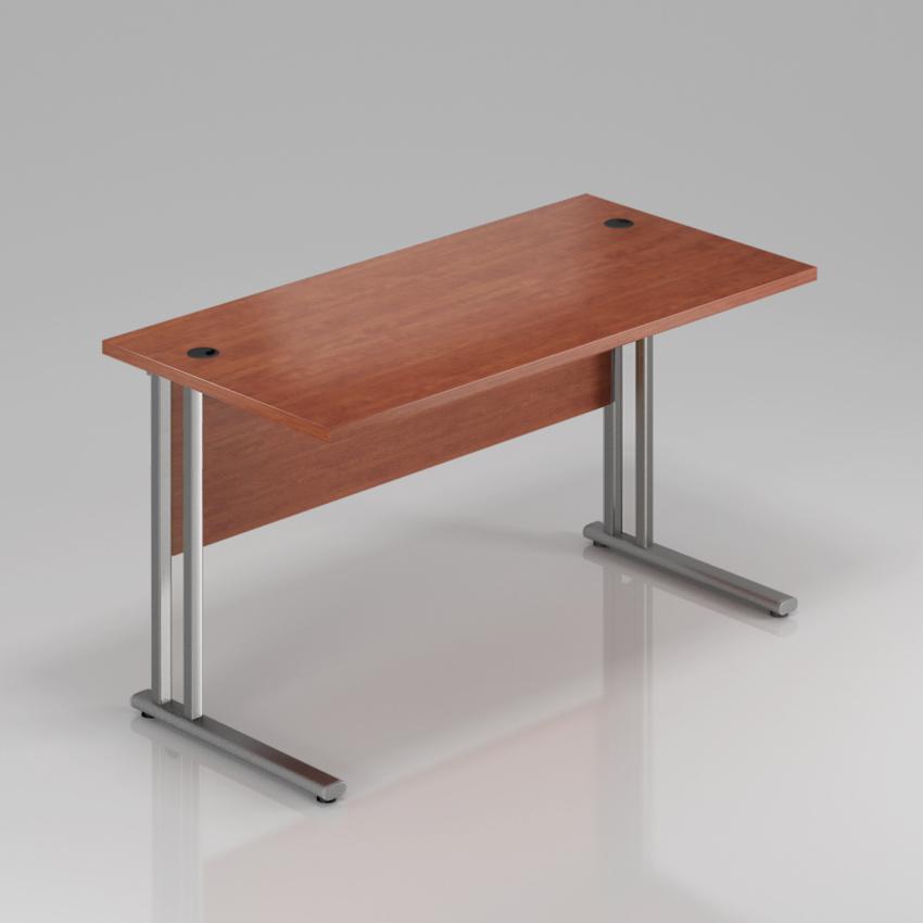Kancelársky stôl Komfort, kovová podnož, 140x70x76 cm - BPR14 03