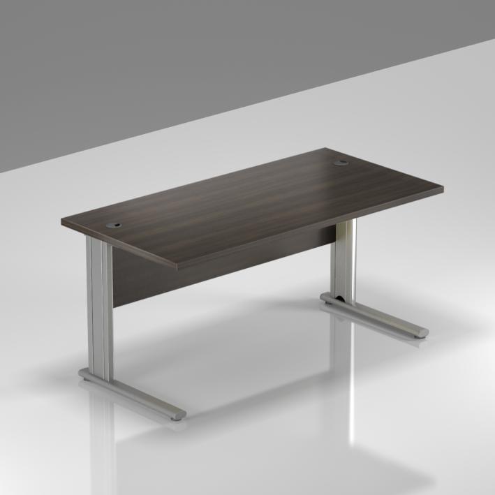 Kancelársky stôl Komfort, kovová podnož, 140x70x76 cm - BPR14 07