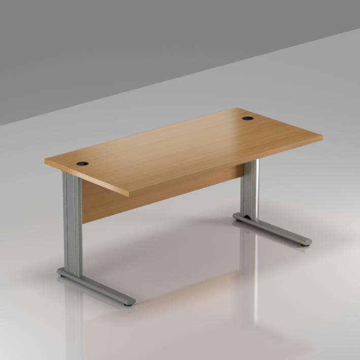 Kancelársky stôl Komfort, kovová podnož, 140x70x76 cm - BPR14 11