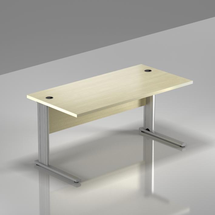 Kancelársky stôl Komfort, kovová podnož, 140x70x76 cm - BPR14 12