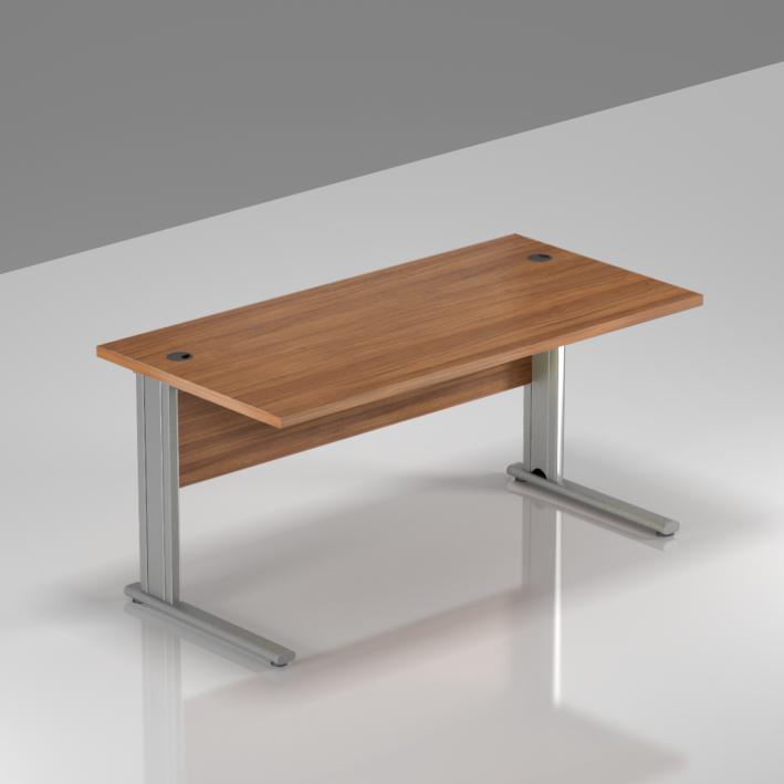 Kancelársky stôl Komfort, kovová podnož, 140x70x76 cm - BPR14 19